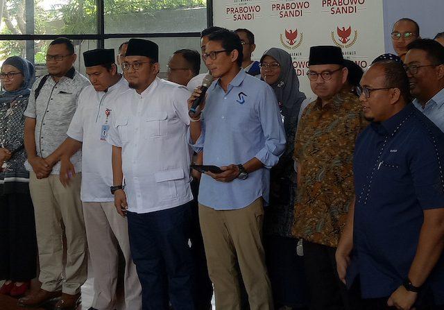 Calon wakil presiden nomor urut 02 Sandiaga Salahuddin Uno (Ist)