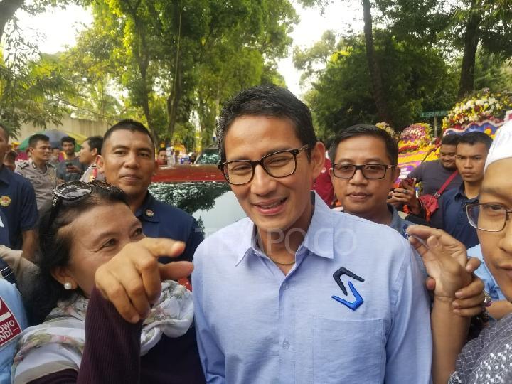 Sandiaga Uno di Kertanegara IV, Kebayoran Baru, Jakarta Selatan, Senin, 22 April 2019. Tempo/Ryan Dwiky