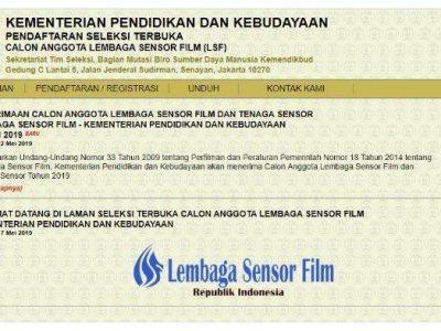 LOWONGAN KERJA, Info Rekrutmen Tenaga Lembaga Sensor Film Kemendikbud, Cek Batas Pendaftarannya