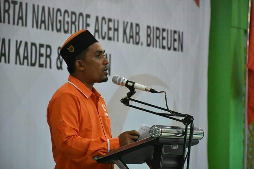 Suhaimin Ketua Fraksi PNA Bireuen