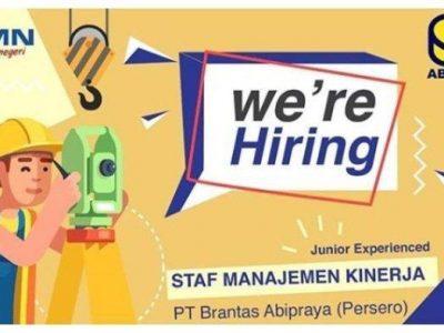 Lowongan Kerja BUMN PT Brantas Abipraya (Persero), Posisi Staf Manajemen Kinerja
