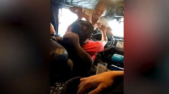 VIRAL Video Sopir Bus Dihajar Istri Sah Karena Kerja Bawa Selingkuhan, Endingnya Satlantas Datang