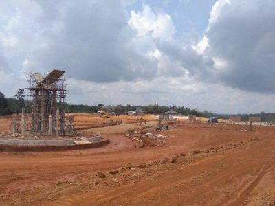 Pembangunan Arena MTQ di Bungo Dikebut, Pekerja Sampai Kerja Siang Malam
