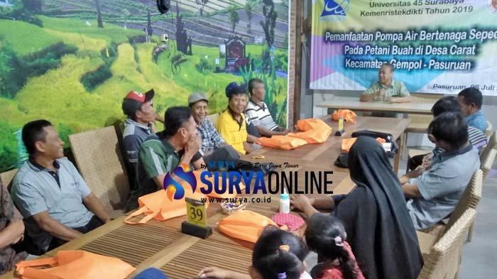 Pompa Air Bertenaga Sepeda Rancangan Dosen Universitas 45 Surabaya Ini Ringankan Kerja Petani Buah